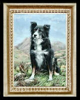 Border Collie Miniature Dollhouse Doll House Picture