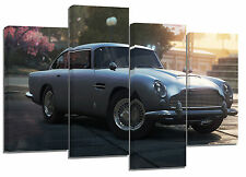 "Aston Martin DB5 (3) /set of 4 canvas/ Giclee prints on wooden frames/  32""x 22"""
