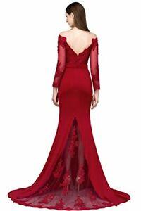 Robe Femme Longue Cérémonie Robe de Soirée  Fleurs Sirène Moulante