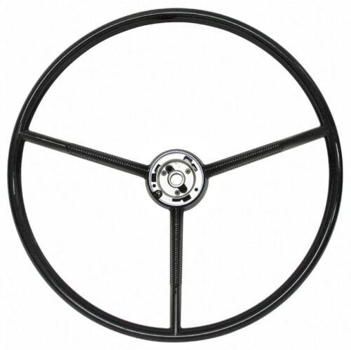 Black 61-63 Comet Steering Wheel 3 Spoke NEW