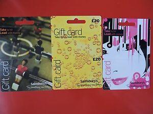 Three Unused Sainsbury S Uk Gift Cards No Value Collectors Items Lot 2 Ebay