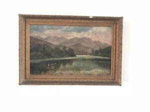Antique-Oil-Painting-Landscape-around-1848-Hudson-River-School-42-5-039-039-x-29-5-039-039