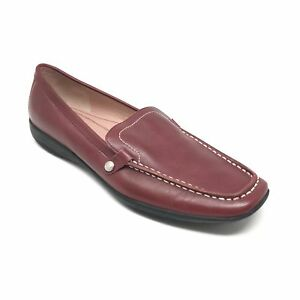 Women-039-s-Coach-Daisy-Loafers-Flats-Shoes-Size-7-5M-Burgundy-Leather-Driving-M6