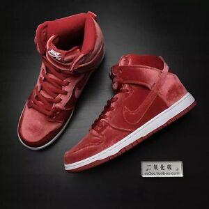 new styles 04cc4 ffb5f Image is loading Nike-Dunk-High-Premium-SB-039-Red-Velvet-