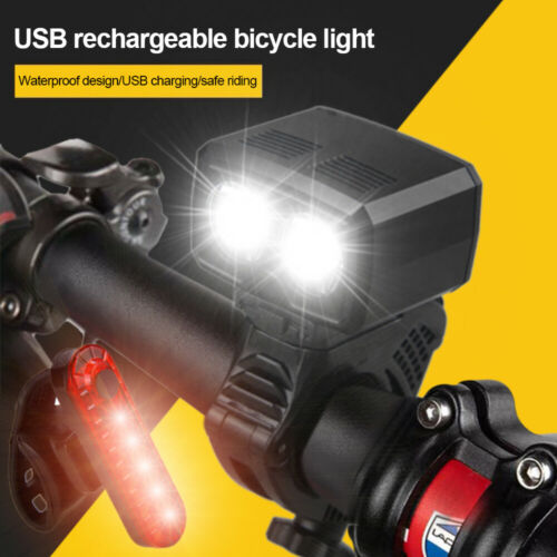 5000LM Rechargeable MTB Bicycle LED Front Light USB Headlight Bike Cycling Lamp