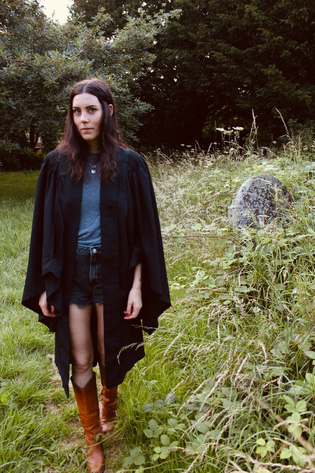 RARE Vintage 1970s Ede and Ravenscroft Graduate Robe - Gothic Robe - Cloak