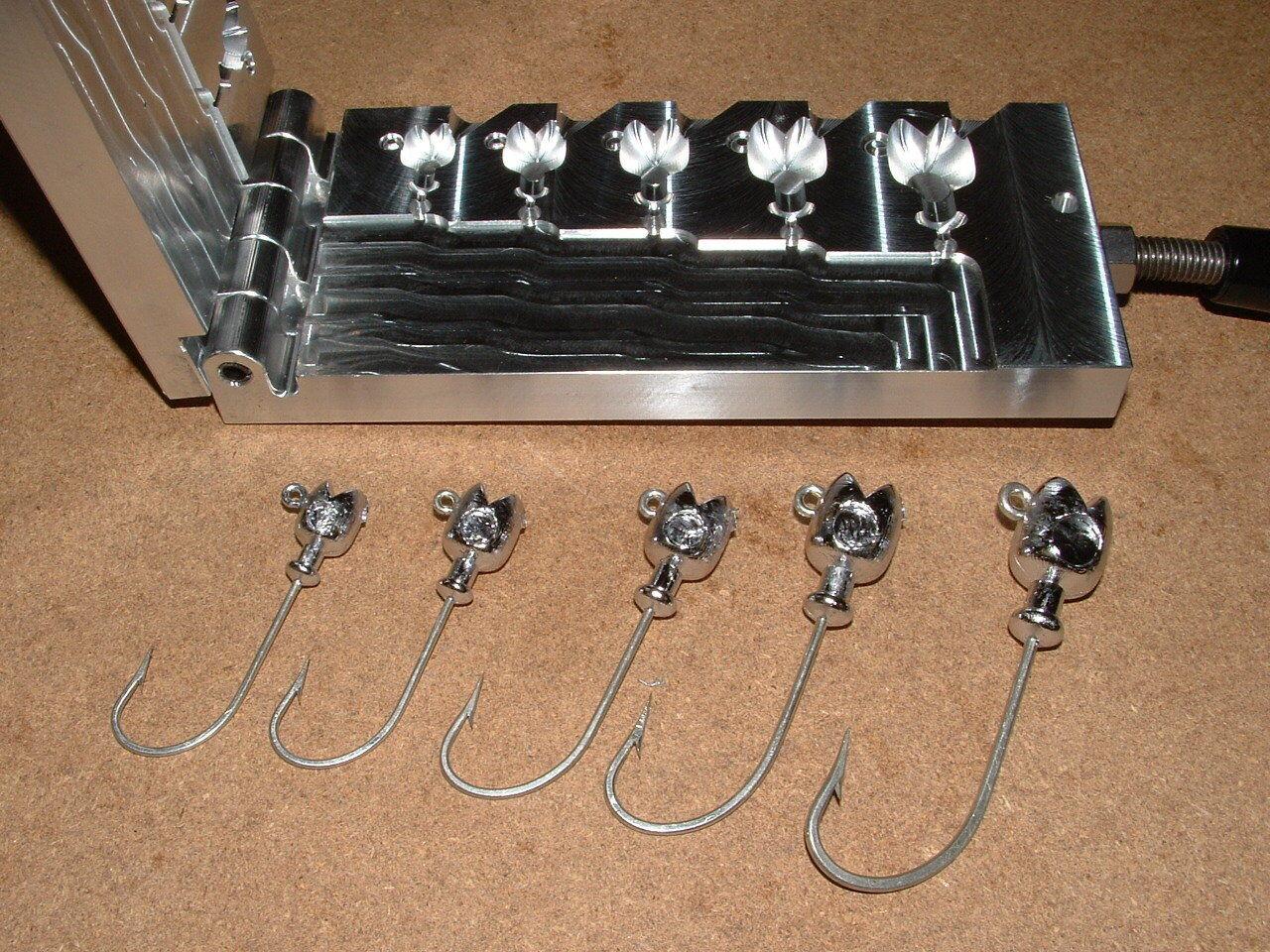 Saltwater Pacman Jig mold 1 2,3 4,1,1.5,2oz CNC Aluminum Striper Cobia