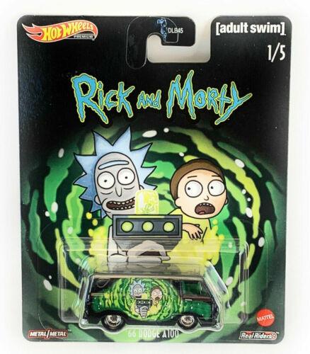 Hotwheels Rick /& Morty 66 Dodge A100 aleaciones neumáticos de goma