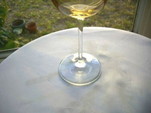Full High Quality Yellow Crystal Tall Stem Wine Glass