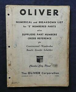 1940's OLIVER CARBURETOR PART NUMBER MANUAL BOSCH ZENITH SCHEBLER WAUKESHA RARE