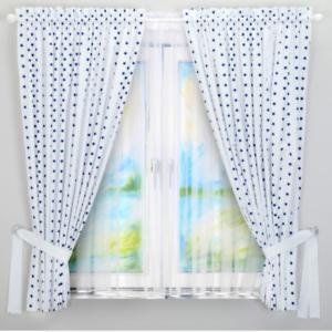 Lux 2pc Bébé Chambre à Coucher Rideaux Enfants Chambre Marine Star Blanc 2 panneaux en coton