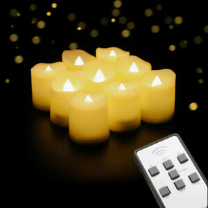 9er Led Teelichter Kerzen Mit Fernbedienung Wasserdicht Flackernd Dimmbar Timer Ebay