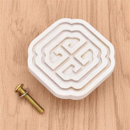 Viereckig Griffe DIY für Tür Schrank Schublade Kommode Möbelgriffe Holz Vintage
