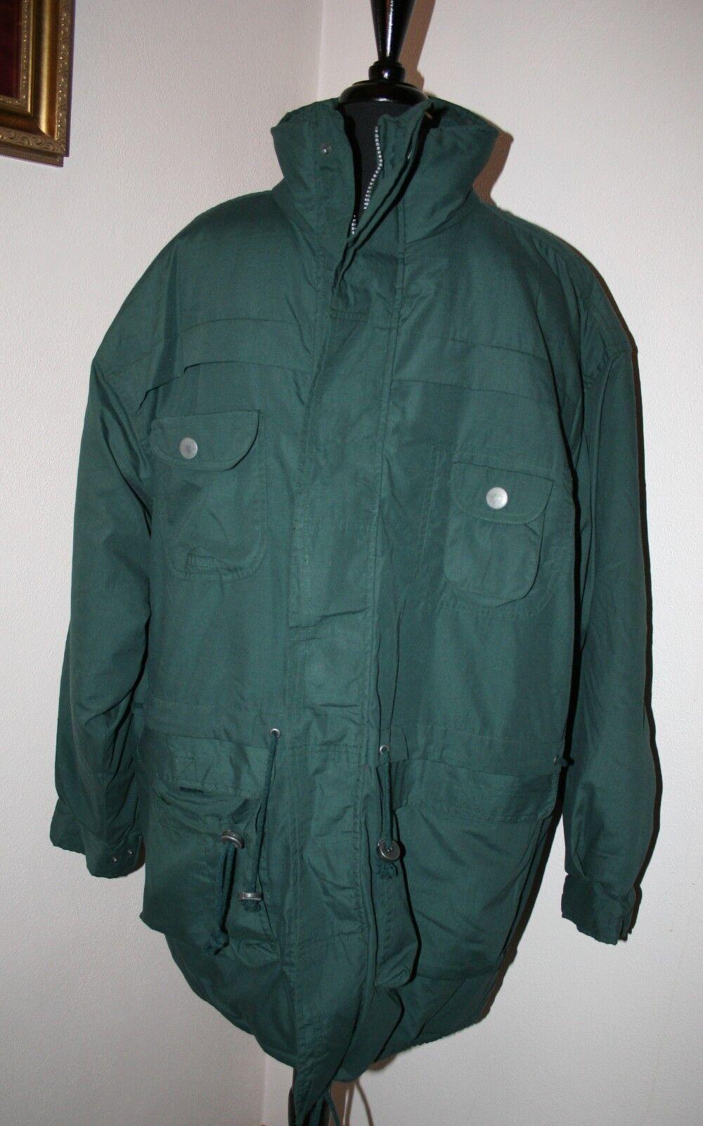 Men's Duffel Coat Parka LARGE Green Threads Unlim… - image 1