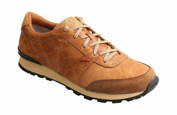 Twisted X Boots Men's Western Athleisure Sneaker Tan Rough Out Leather Sneakers