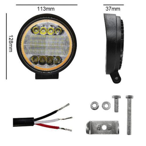 4 Inch 72W Round LED Work Light Spot Driving Lamp Headlight Offroad ATV Truc ua
