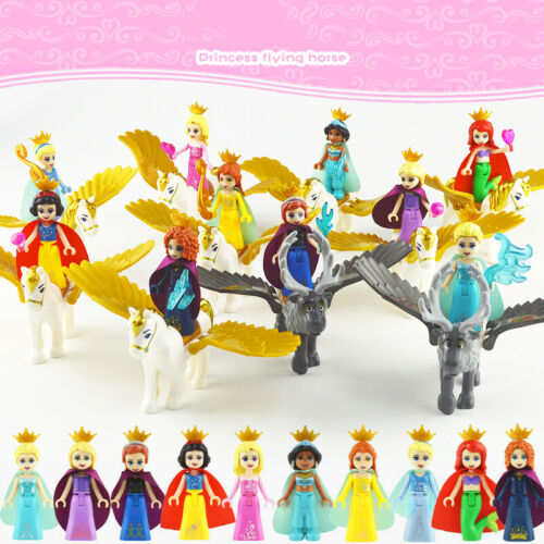 10 Flying Horse Set Princess Flying Horses 10 Minifigures