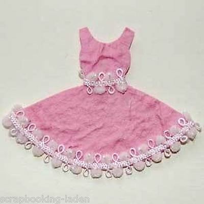 3 x Ballettkleid rosa Tanzen Mädchen Scrapbooking 3D