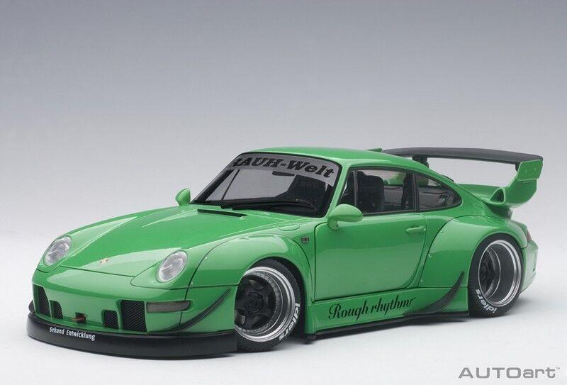 online al mejor precio Autoart 78151 78151 78151 - 1 18 Porsche 993 RWB-verde Gun gris Wheels-nuevo  nueva gama alta exclusiva