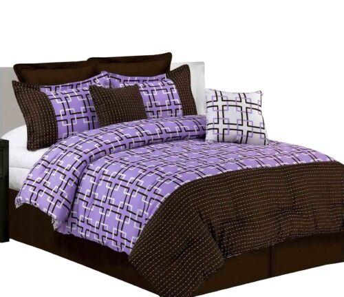 Lavender King Misaka 8-Piece Pick Stitch Comforter Set