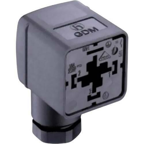 Connettore per valvola gdm21fa l1y trasparente poli2 + pe belden