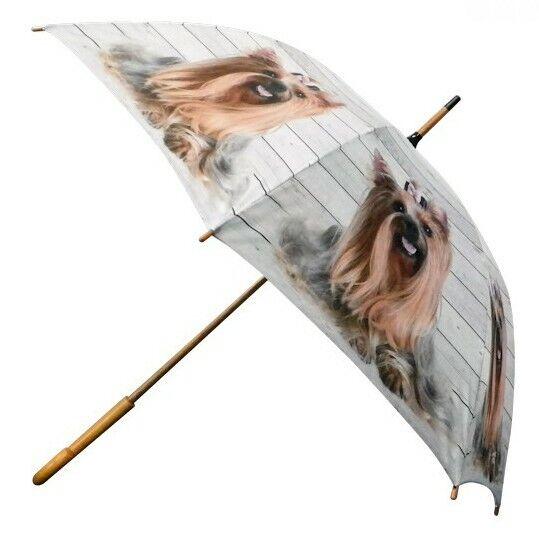 Regenschirm Yorkshire Terrier Hündin Stockschirm Schirm Regenschutz