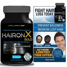 Hair Growth Vitamins Hair Loss Treatment for Faster Growth GUARANTEED by HaironX
