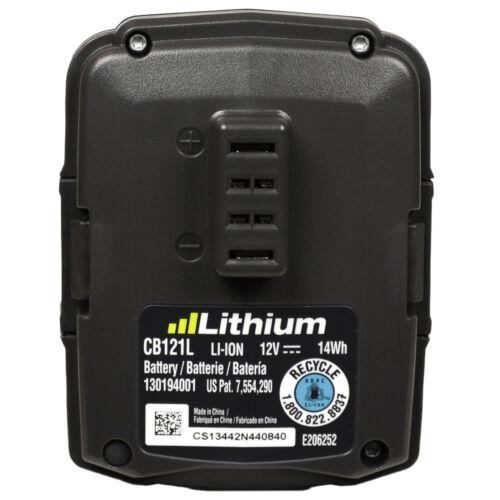 Ryobi C123D Dual Chemistry Battery Charger and 2 CB121L 12V Li-Ion Batteries New