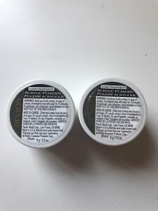 Skilful Manufacture 0.5 Oz Gentle Revlon Acrylic Powder Clear/transparent Lot Of 2 Each Is 9g