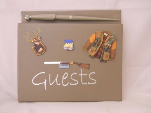 Wedding Party  Camp Lodge Deer Hunting Guest Book /& Pen or any Event