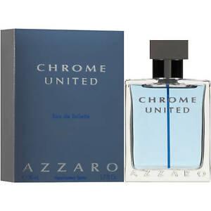 Azzaro Chrome United Men's EDT Cologne Spray, Comforting & Refined, 1.7 Fl. Oz.