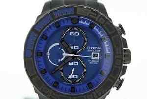 70ac53efe Men's Citizen CA0525-50L Eco-Drive Black Titanium Blue Dial ...