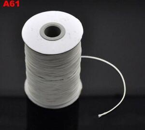 Cordon fil coton ciré noir 1 mm  10 mètres CREATION BIJOUX FANTAISIE DIY