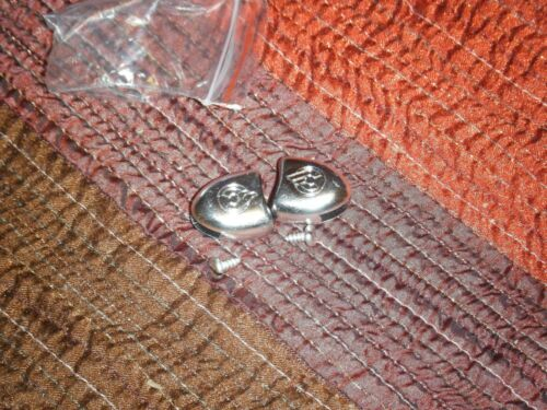 toestrap for pedals NOS Cinelli chrome plastic toe strap buttons w//screws