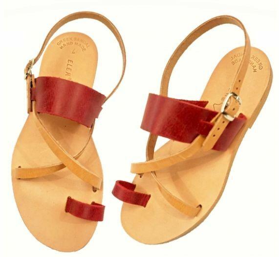 Ancient Greek Style Womens Sandals Gladiator Handmade Slide Leather Flat Roman