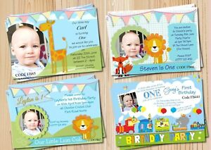 Boys 1st Birthday Invitations Card Or Thank You Cards With Free