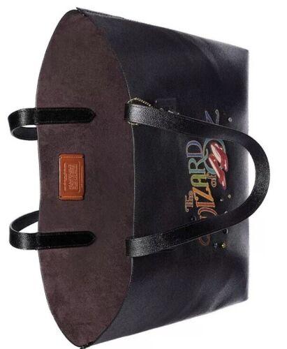 ❤️ Coach Box Program Wizard Of Oz Crossgrain Leather Highline Black//Gold Tote