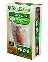 Foodsaver Gamesaver 2-pack, 8 X 20' Long Heat-seal Rolls, New, Free Shipping on sale
