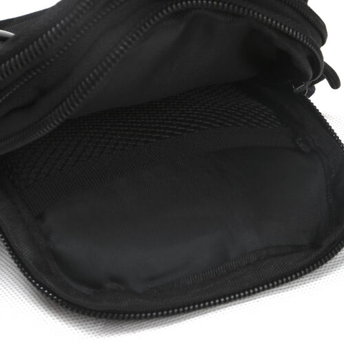 Tourbon Nylon Tactical Molle Bag Military Waist Pouch Black for Hunting Camping