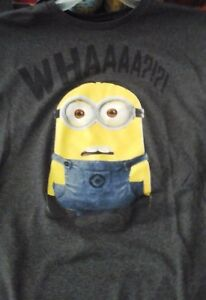 Disney Despicable Me Minions Confused Licensed Men/'s Movie T Shirt Large