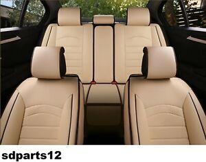 Peugeot-308-208-2008-3008-Housses-Couvre-Siege-Jeu-Complet-Similicuir-Beige