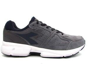 DIADORA-SHAPE-8-S-scarpe-sportive-uomo-casual-sneakers-pelle-camoscio-grigio