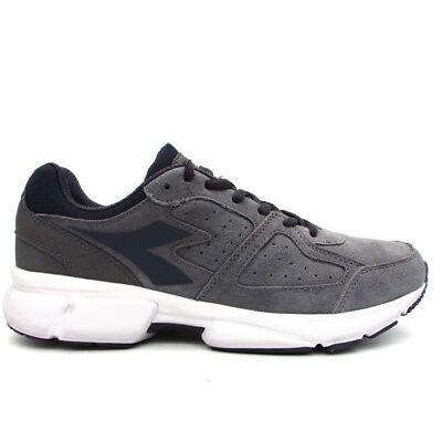 DIADORA SHAPE 8 S scarpe sportive uomo casual sneakers pelle camoscio grigio