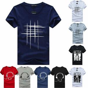 Summer-Mens-Short-Sleeve-Line-Print-T-Shirt-Harajuku-Funny-Tee-shirts-Hipster