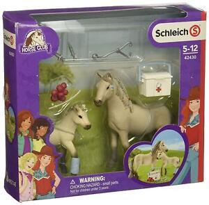 Schleich-Horse-Club-42430-Hannahs-Erste-Hilfe-Set-mit-Stute-und-Fohlen-uvm