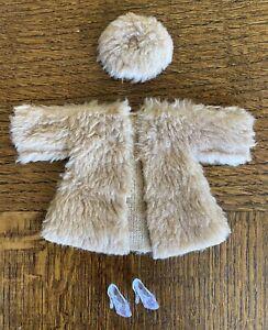 Vintage-Barbie-Tammy-Doll-Clone-Outfit-1960-s-Fur-Coat-Hat-Shoes