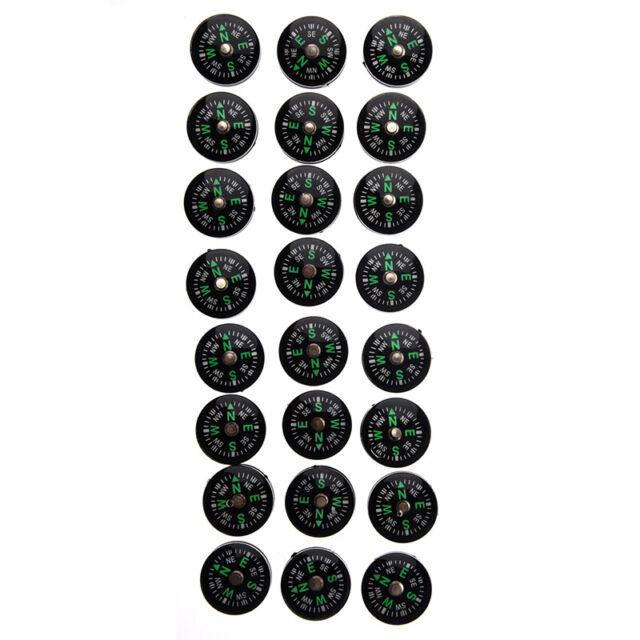 24 Brujulas Pequenas 20 mm para Kit de Supervivencia K9Y8