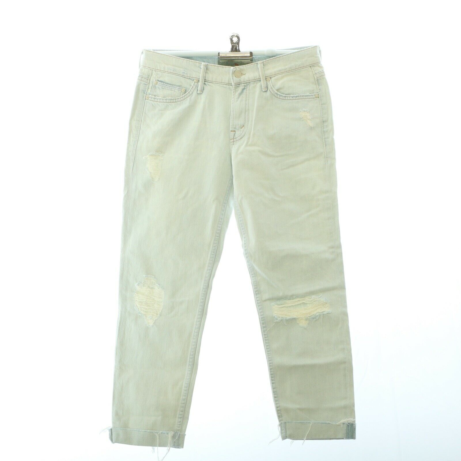 Mother Womens Jeans 25 Faded Distressed