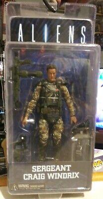 "Aliens le Sgt Craig Windrix Sergent Figurine NECA 7/"" film série 2"