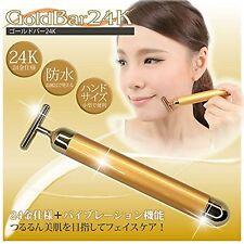 Facial Beauty Massager GOLD BAR 24K (beauty effect) New Japan F/S w/Tracking